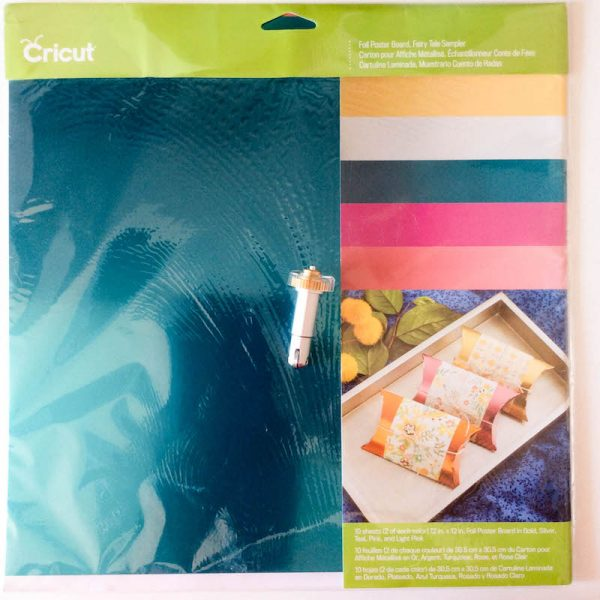 How To Make a Foil Poster Board Gift Box with the Cricut Maker Double Scoring Wheel by Underground Crafter - Foil Poster Board and Double Scoring Wheel