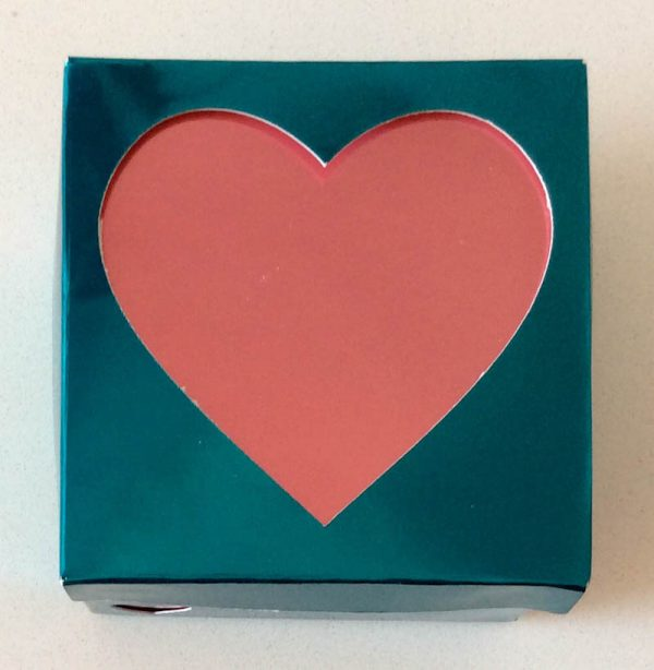 How To Make a Foil Poster Board Gift Box with the Cricut Maker Double Scoring Wheel by Underground Crafter - Heart Gift Box view from top