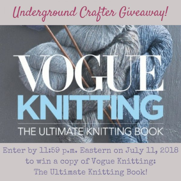 Book Review: Vogue Knitting: The Ultimate Knitting Book (Copmletely Revised & Updated) via Underground Crafter - giveaway