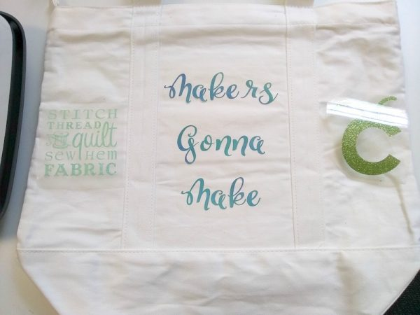 How To Make a Custom Makers Gonna Make Iron-On Bag with Cricut EasyPress 2 by Underground Crafter - iron on pieces