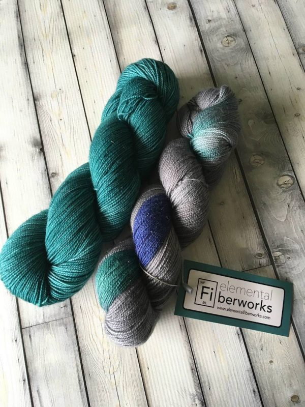 How To Work with Hand Dyed Yarn by Karen Whooley for Underground Crafter - Elemental Fiberworks Star Stuff Sock