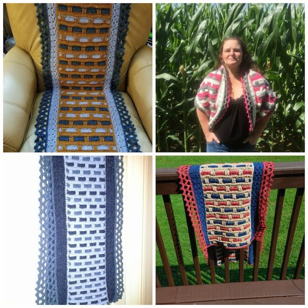 Phoenix Wrap Crochet-a-Long giveaway winners collage