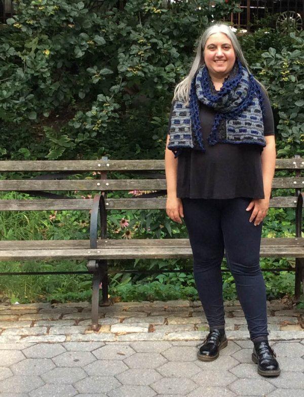 Phoenix Wrap, free crochet pattern in Lion Brand Jeans by Underground Crafter | styling options: Loop Dee Loop
