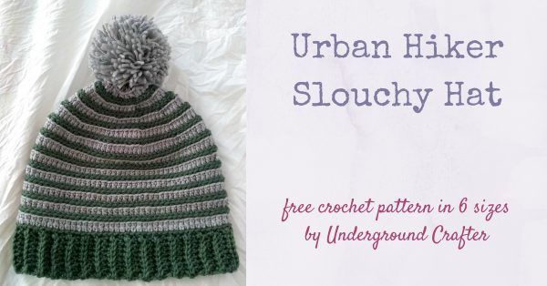 Urban Hiker Slouchy Hat free crochet pattern by Underground Crafter in Red Heart Chic Sheep by Marly Bird yarn