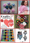 Crafty Love Link Party 37 (September, 2018) | collage featuring 2 Hearts & 2 Wheels, Joy of Motion Crochet, Posh Pooch Designs, Maria's Blue Crayon, and Goddess Crochet