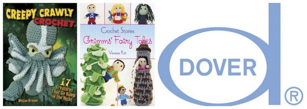 2018 Halloween Crochet Along with Oombawka Design Crochet and Underground Crafter giveaway prize - Dover Publications - Creepy Crawly Crochet - Crochet Stories Grimms Fairy Tales