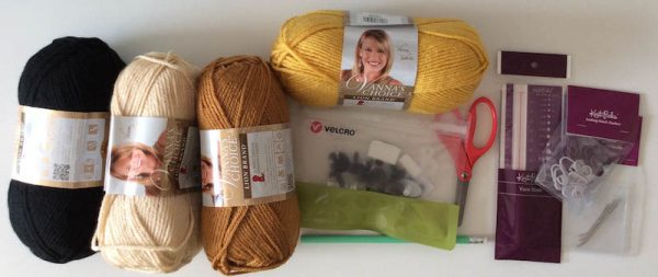 Join Underground Crafter at In the MKNG Creativty Festival - Crochet Rag Doll Characters Kit Contents