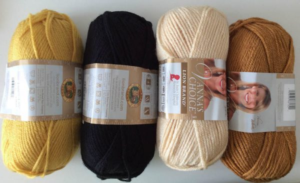 Join Underground Crafter at In the MKNG Creativty Festival - Crochet Rag Doll Characters Kit Contents - Lion Brand yarn