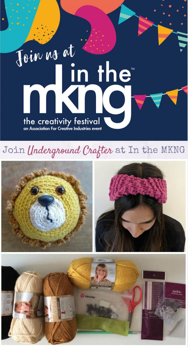 Join Underground Crafter at In the MKNG Creativty Festival