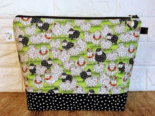 2018 Halloween Crochet Along with Oombawka Design Crochet and Underground Crafter giveaway prize - QuiltKnitCraft project bag