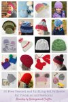20 Free #Crochet and #Knitting Patterns for Preemie and Newborn Hats via Underground Crafter | These hats are sized for donation to Tiny Hats for Tiny Babies, a Warm Up America campaign. Make a quick project for donation! #charity #tinyhatsfortinybabies #warmupamerica #undergroundcrafter #freecrochetpatterns #freeknittingpatterns