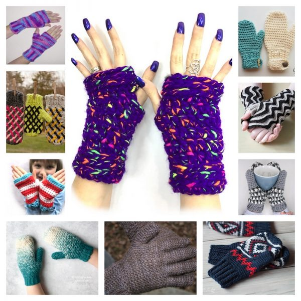 20 Free Handmade Mitten and Glove Patterns and Tutorials To Make Great Gifts via Underground Crafter | crochet patterns collage