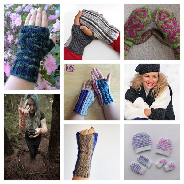 20 Free Handmade Mitten and Glove Patterns and Tutorials To Make Great Gifts via Underground Crafter | knitting pattern collage