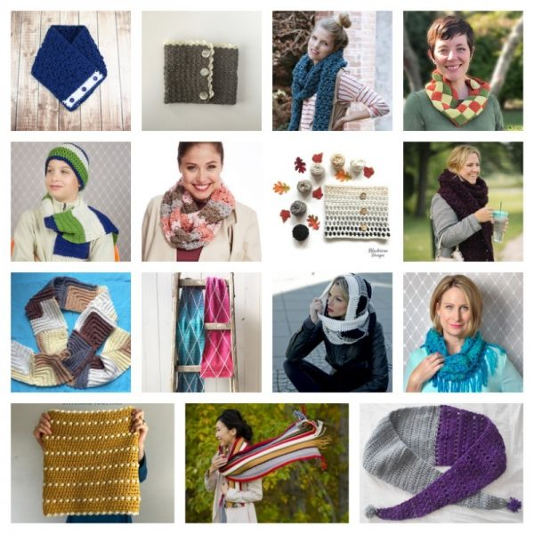 32 Handmade Scarf and Cowl Patterns and Tutorials To Make Great Gifts via Underground Crafter - crochet patterns collage