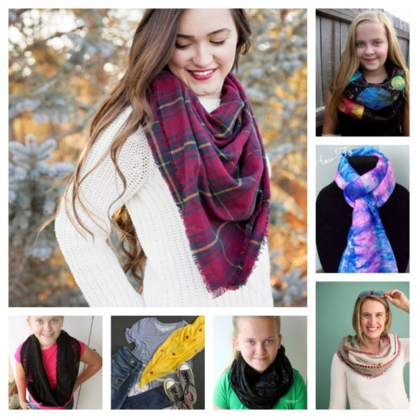 32 Handmade Scarf and Cowl Patterns and Tutorials To Make Great Gifts via Underground Crafter - fabric tutorials collage