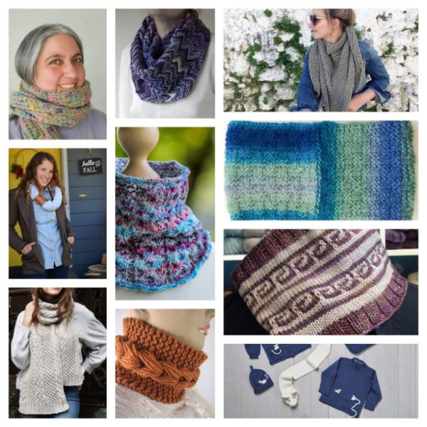 32 Handmade Scarf and Cowl Patterns and Tutorials To Make Great Gifts via Underground Crafter - knitting patterns collage