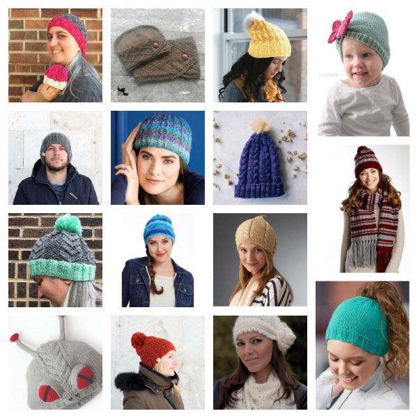 35 Handmade Hat Patterns and Tutorials via Underground Crafter - free knitting patterns collage