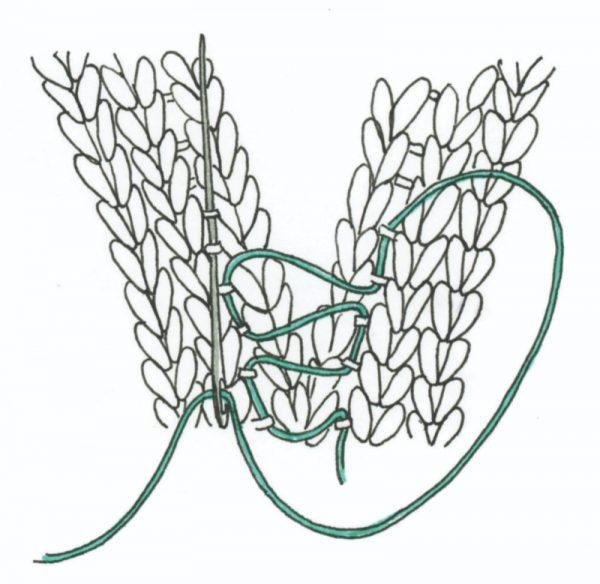 Free knitting pattern: Alien hat by Vanessa Mooncie via Underground Crafter | mattress stitch illustration
