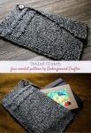 Free crochet pattern: Cabled Clutch by Underground Crafter   The Cabled Clutch crochet pattern makes a small bag with an asymmetrical flap, picot edges, and a beautiful twisted crochet cable. This clutch is perfect for toting around your crochet notions, a small sketchbook, or using as your statement bag for a night out.