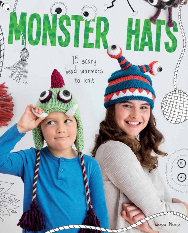 Free knitting pattern: Alien hat by Vanessa Mooncie via Underground Crafter | Monster Hats book cover