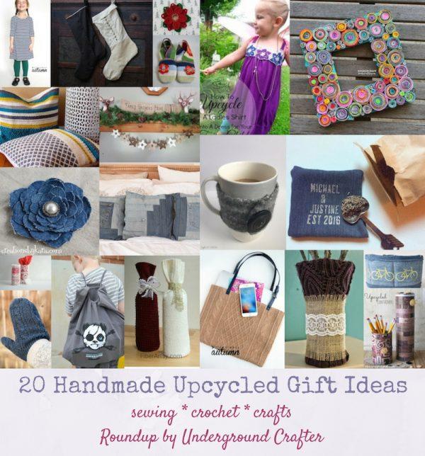 20 Handmade Upcycled Gift Ideas via Underground Crafter