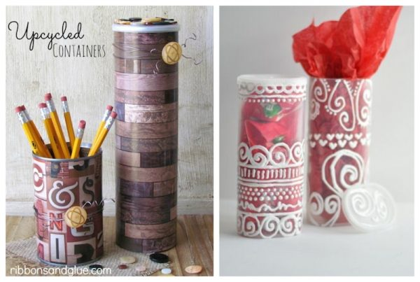 20 Handmade Upcycled Gift Ideas via Underground Crafter - projects made from food containers