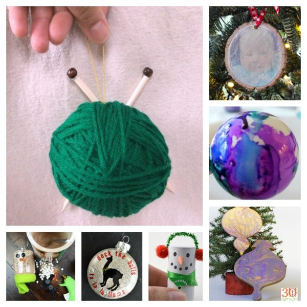 21 Handmade Ornament Ideas to Make Great Gifts via Underground Crafter | 8 free crafts projects collage