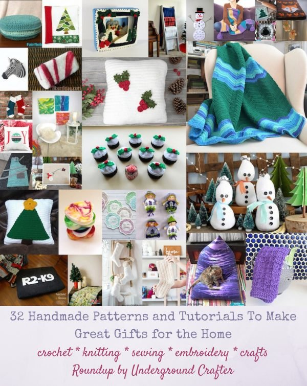 32 Handmade Patterns and Tutorials To Make Great Gifts for the Home via Underground Crafter