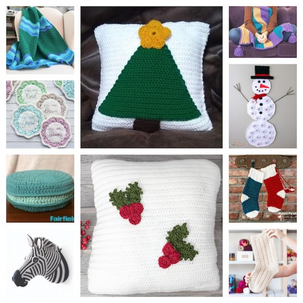 32 Handmade Patterns and Tutorials To Make Great Gifts for the Home via Underground Crafter - crochet patterns collage