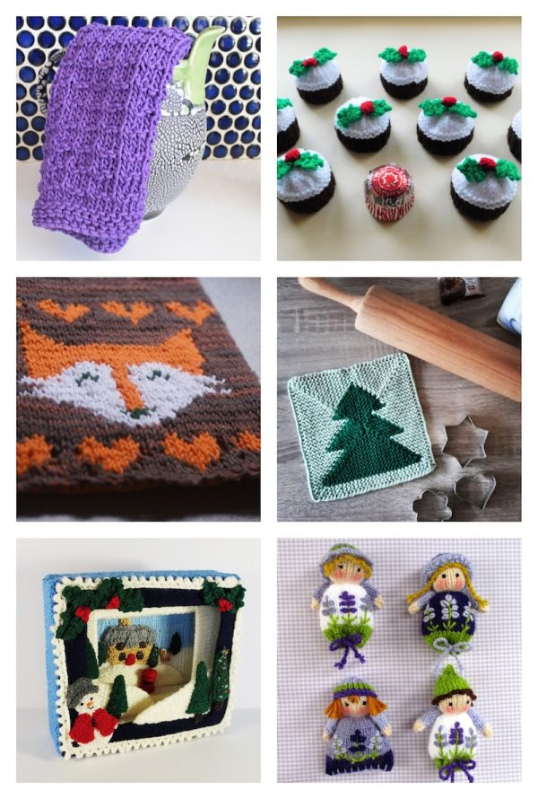 32 Handmade Patterns and Tutorials To Make Great Gifts for the Home via Underground Crafter - knitting patterns collage