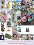 40 Free Crochet Animal Patterns via Underground Crafter
