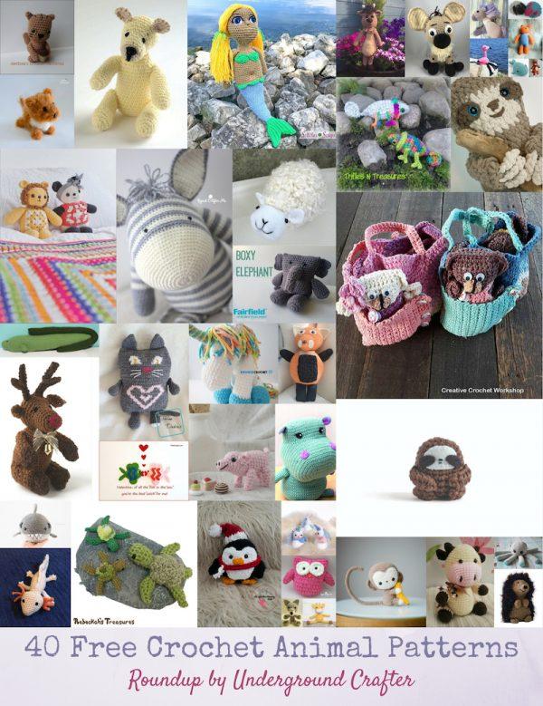 45 DIY Crochet Animal Craft Ideas: Free Amigurumi Patterns | 779x600