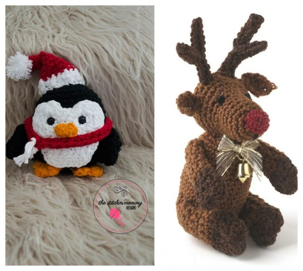 40 Free Crochet Animal Patterns via Underground Crafter | 2 free crochet patterns for Christmas critters