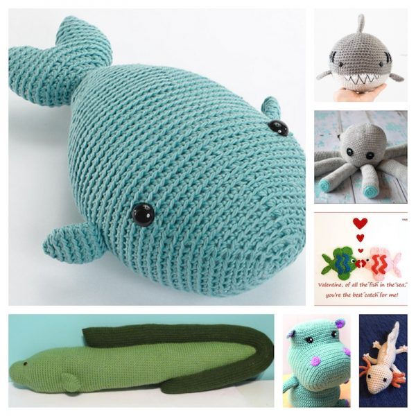 10 Free Crochet Sea Creatures Patterns - Crochet For You | 600x600