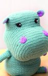 Cuddly Animals to Crochet: 28 Cute Toys to Make and Love by Lucia Forthmann book review via Underground Crafter | Nelly the Hippo amigurumi pattern