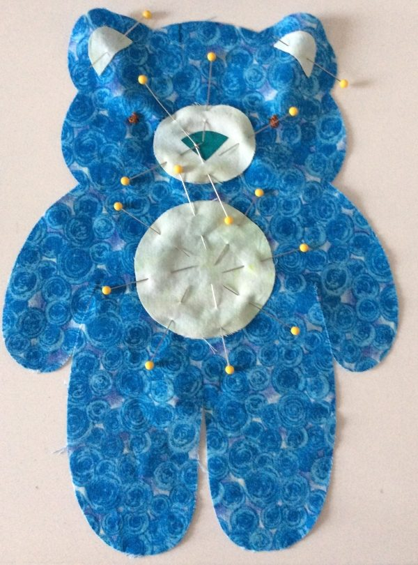 Answers to Your Top 5 Cricut Maker Questions + How To Make a Vintage Bear Softie by Underground Crafter | facial features pinned in place