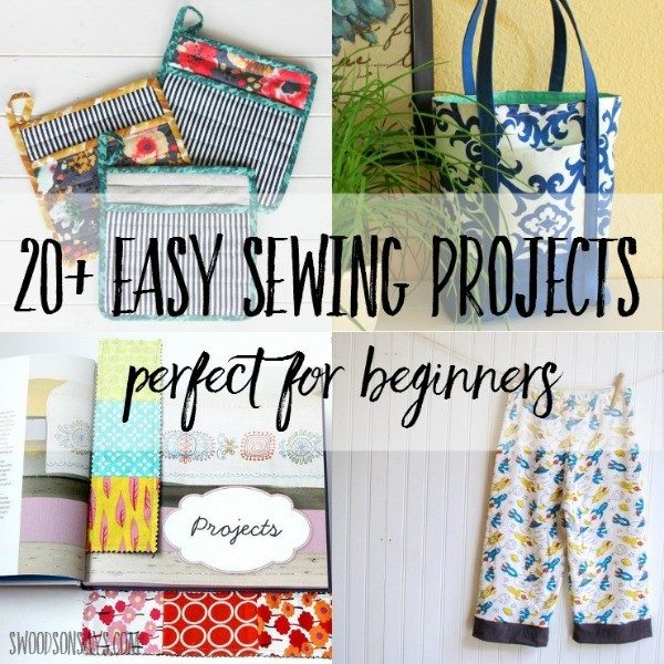 Underground Crafter's Sewing Tips & Resources for Beginners from Your Favorite Bloggers | 20+ Easy Sewing Projects for Beginners via Swoodson Says