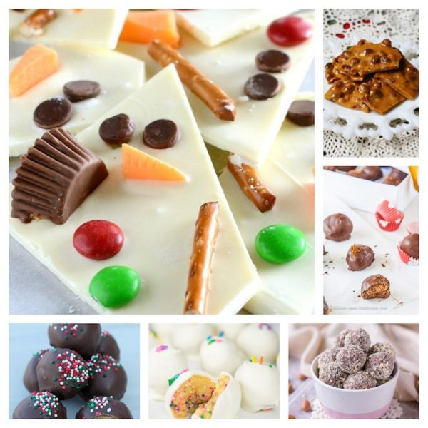 30 Delicious Holiday Sweets to Make Great Gifts via Underground Crafter - no-bake treats collage