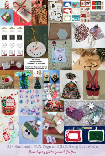38+ Handmade Gift Tags and Gift Wrap Tutorials via Underground Crafter