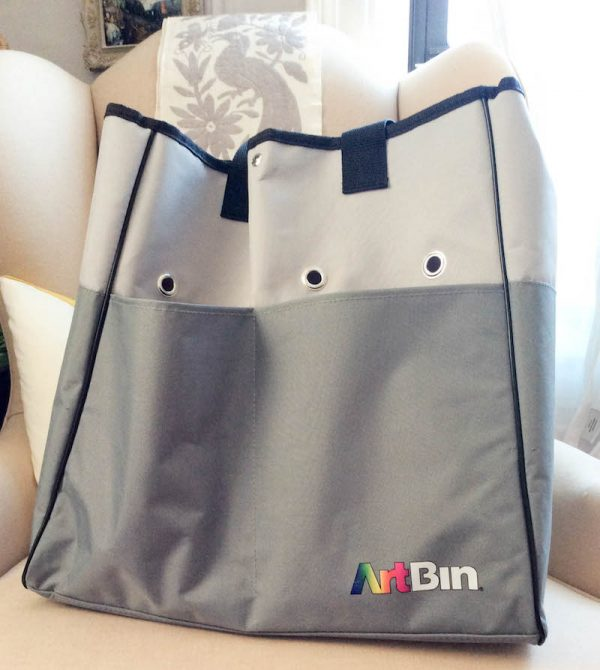 ArtBin Yarn Tote review by Underground Crafter | ArtBin Yarn Tote on chair