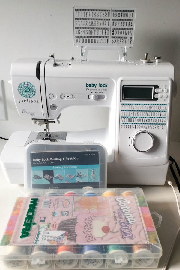 Underground Crafter's Sewing Tips & Resources for Beginners from Your Favorite Bloggers | Baby Lock Jubilant with Quilting 6 Foot Kit and Madeira Cotona Box of thread