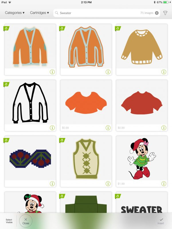 DIY Ugly Sweater Cards with Cricut Maker by Underground Crafter | Design Space screenshot