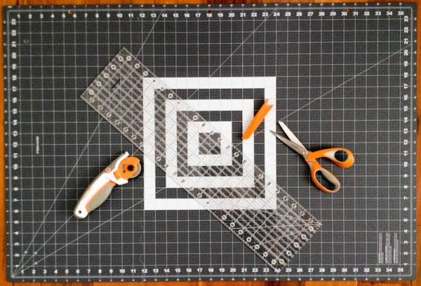 Fiskars Folding Ruler and Cutting Mat with Razor Edge via Underground Crafter