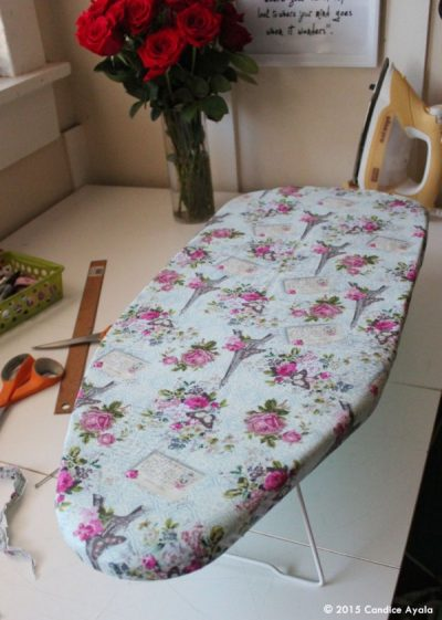 Underground Crafter's Sewing Tips & Resources for Beginners from Your Favorite Bloggers | Transform Your Old Ironing Board Into a Brand New One DIY Tutorial by Candice Ayala