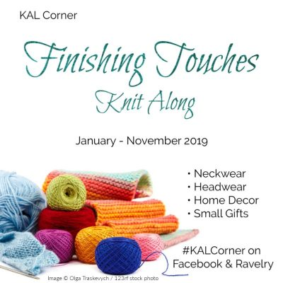 Finishing Touches Knit Along with KAL Corner