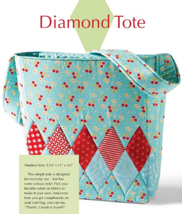 Learn How to English Paper Piece by Carolina Moore book review on Underground Crafter - Diamond Tote