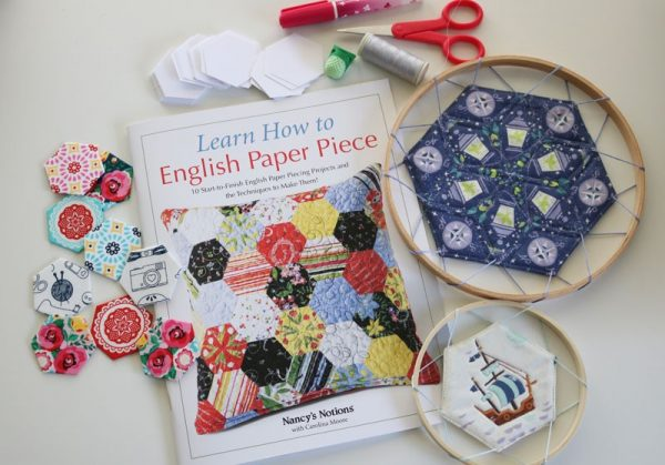 Learn How to English Paper Piece by Carolina Moore book review on Underground Crafter - Dream Catchers