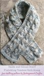 Free knitting pattern: Seeds and Cables Scarf in Lion Brand Wool-Ease Thick and Quick Bonus Bundle yarn by Underground Crafter