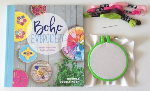 Boho Stitch Sampler Pillow with Cricut Maker Tutorial by Underground Crafter | Supplies for embroidery