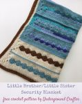 Little Brother/Little Sister Security Blanket, free crochet pattern by Underground Crafter